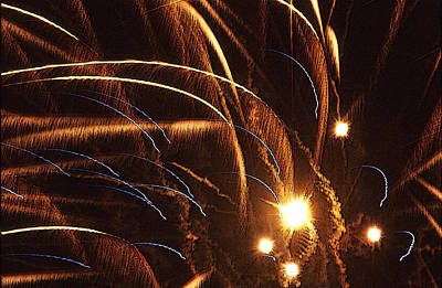 Fireworks In The Wind Print by Anthony Dalton