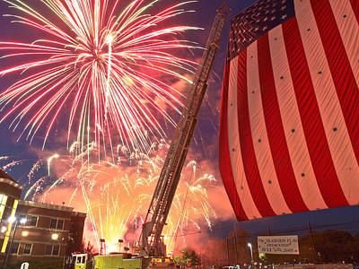 Ridgewood Photograph - Fireworks by Jim DeLillo