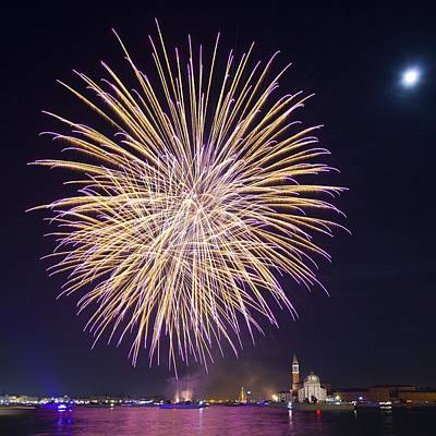Fireworks Over Venice Print by Science Photo Library