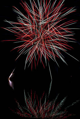 Fireworks Rockets Red Glare Print by Christina Rollo
