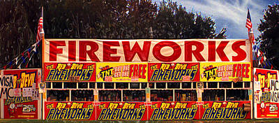 Fireworks Print by Ron Regalado