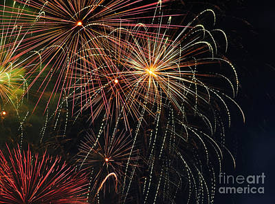 Royal Australian Navy Photograph - Fireworks - Royal Australian Navy Centenary 2 by Kaye Menner