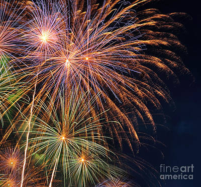 Royal Australian Navy Photograph - Fireworks - Royal Australian Navy Centenary by Kaye Menner