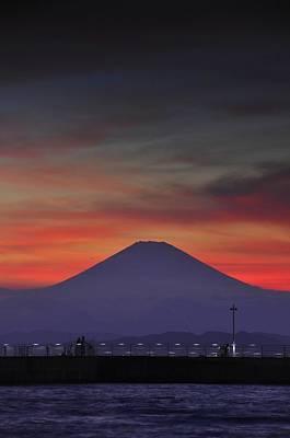 Firey Fuji Print by Aaron S Bedell