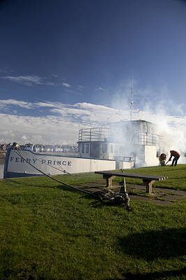 Firing Up The Old Ferry Prince Print by David Davies