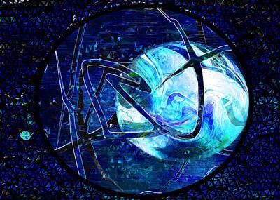 Discernment Digital Art - Firmament Cracked - #8 Rear Window by Mathilde Vhargon