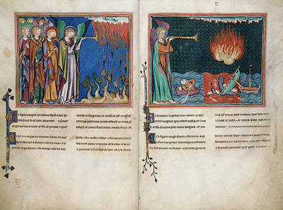 New Testament Photograph - First And Second Trumpets by British Library