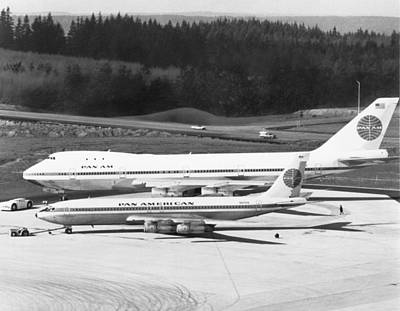 Airliners Photograph - First Boeing 747 by Underwood Archives