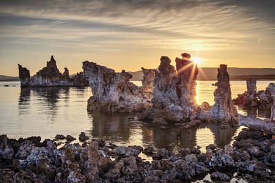 First Burst Of Light Over Tufas Original by Eduard Moldoveanu