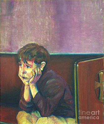 Contemplative Painting - First Confession by Gina Switzer
