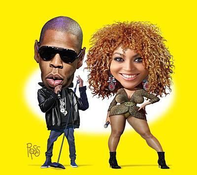 Jay Z Digital Art - First Couple by Scott Ross