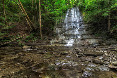 Waterfall Photograph - First Falls Grimes Glen by Mark Papke