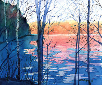 November Painting - First Ice by Kris Parins
