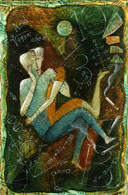 Man And Woman Painting - First Kiss by Leon Zernitsky