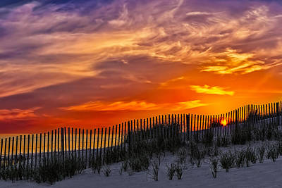 Clouds Photograph - First Light At Cape Cod Beach  by Susan Candelario