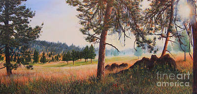 Matte Painting - First Nation Meadow by Jeanette French