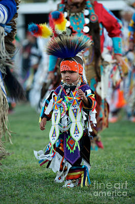 Powwow Photograph - First Powwow by Chris  Brewington Photography LLC