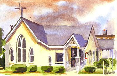 Arcadia Valley Painting - First Presbyterian Church Ironton Missouri by Kip DeVore