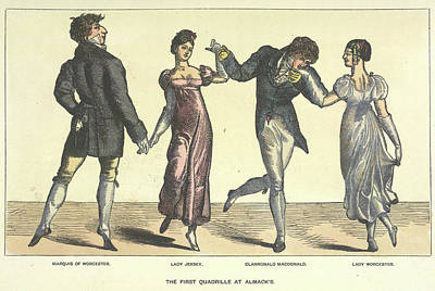 First Quadrille At Almanack's Print by British Library