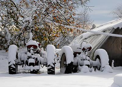 First Snow Print by JoAnn Lense