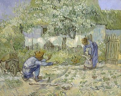 First Steps Van Gogh Print by Georgia Fowler
