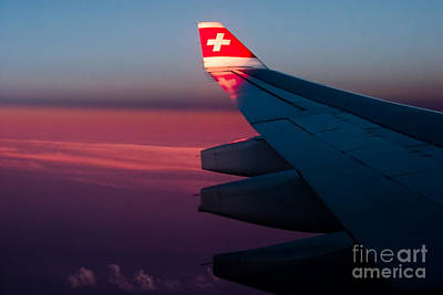 High Altitude Flying Photograph - First Sunlight by Syed Aqueel