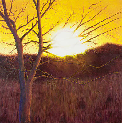 Mississippi River Painting - First Sunset Of Spring by Garry McMichael