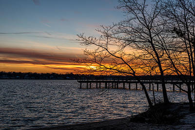First Sunset Of The New Year Print by Terry DeLuco