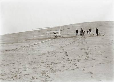 1903 Photograph - First Wright Flyer Launch by Library Of Congress
