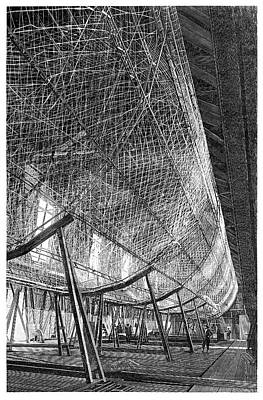First Zeppelin Under Construction Print by Science Photo Library