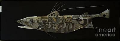 Fish Dx Print by Vladimiras Nikonovas
