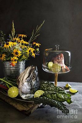 Fish Friday Print by Elena Nosyreva