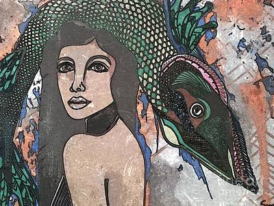Fish Head Woman Print by Amy Sorrell