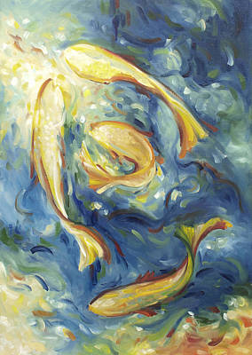 Painting - Fish In Blue Water by John and Lisa Strazza