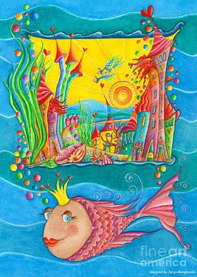 Fish Queen Print by Sonja Mengkowski