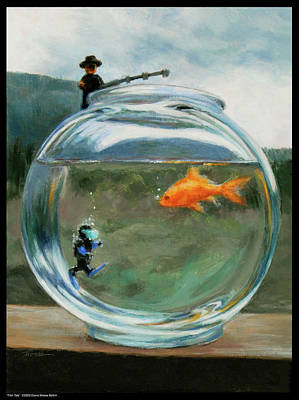 Scuba Painting - Fish Tale by Diana Moses Botkin