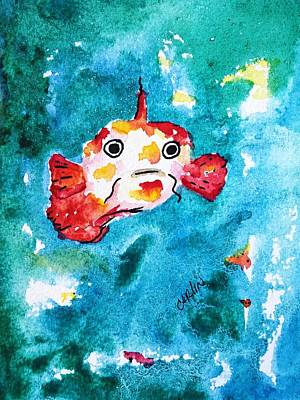 Fish Traveler - Abstract Print by Carlin Blahnik