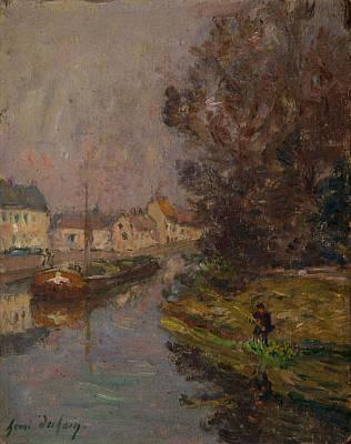 Fisherman At Douai  Print by Henri Duhem