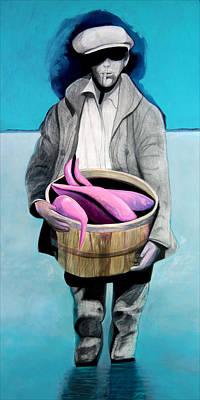 Catfish Mixed Media - Fisherman by Michael Pittman