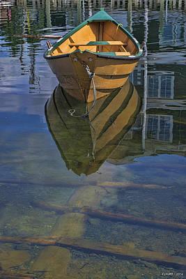 Row Boat Digital Art - Fisherman's Cove  by Ken Morris