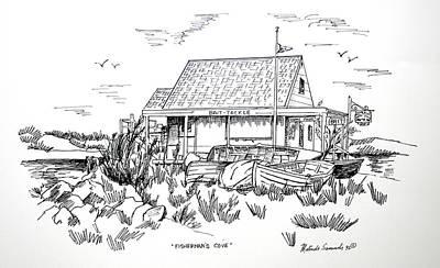 Fisherman's Cove Manasquan Nj Print by Melinda Saminski