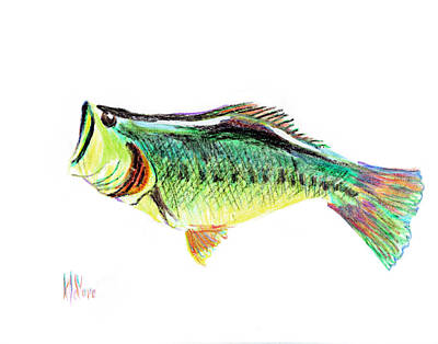 Smallmouth Bass Mixed Media - Fishermans Delight by Kip DeVore