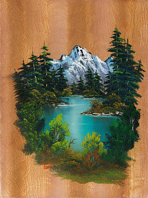 Bob Ross Style Painting - Angler's Fantasy by C Steele