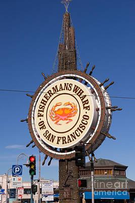 Fishermans Wharf San Francisco California Dsc2028 Print by Wingsdomain Art and Photography