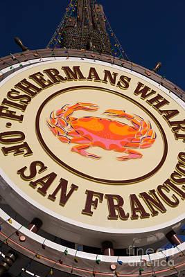 Fishermans Wharf San Francisco California Dsc2046 Print by Wingsdomain Art and Photography