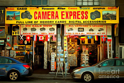 Fishermans Wharf Tourist Shop 7d14096brun Print by Wingsdomain Art and Photography