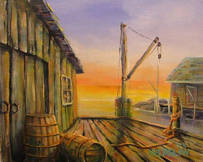 Fisherman's Wharf Print by Wayne Enslow