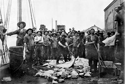 Fishermen 1888 Puget Sound - Washington Print by Daniel Hagerman