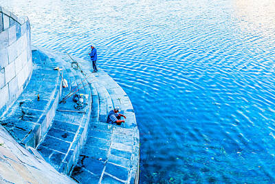 Angling Photograph - Fishermen by Alexander Senin