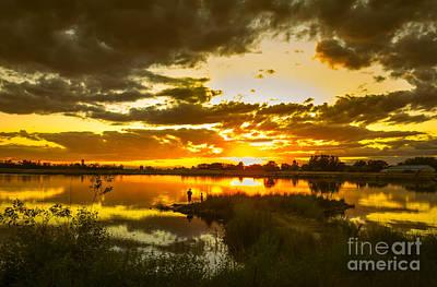Fishermen Sunset II Print by Robert Bales